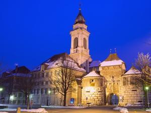 Baseltor City Gate and St. Ursen Cathedral, Solothurn, Switzerland, Europe by Christian Kober