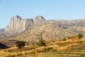 Betsileo village, Tsaranoro Valley, Ambalavao, central area, Madagascar, Africa by Christian Kober