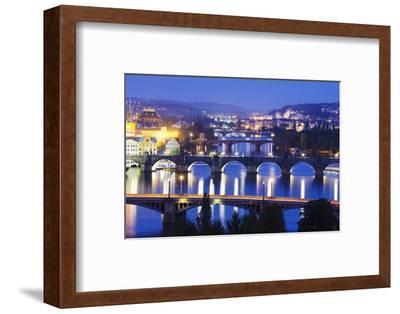 Bridges on the Vltava River, UNESCO World Heritage Site, Prague, Czech Republic, Europe