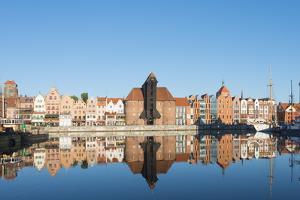 Canal Side Houses, Gdansk, Poland, Europe by Christian Kober