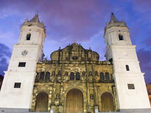 Cathedral, Historical Old Town, UNESCO World Heritage Site, Panama City, Panama, Central America by Christian Kober