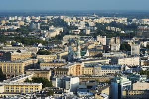 City View from Palace of Culture and Science, Warsaw, Poland, Europe by Christian Kober