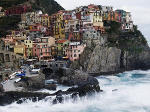 Clifftop Village of Manarola, Cinque Terre, UNESCO World Heritage Site, Liguria, Italy, Europe by Christian Kober