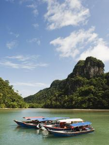 Colourful Boats, Langkawi Island, Kedah State, Malaysia, Southeast Asia, Asia by Christian Kober
