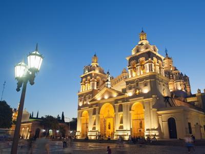 Cordoba Cathedral at Night, Cordoba, Argentina, South America by Christian Kober