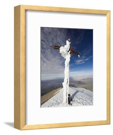 Cross on Summit of El Misti Volcano, 5822M, Arequipa, Peru, South America