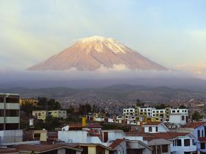 El Misti Volcano 5822M Above City, Arequipa, Peru, South America by Christian Kober