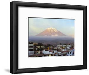 El Misti Volcano 5822M Above City, Arequipa, Peru, South America by Christian Kober