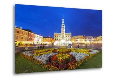 Europe, Poland, Zamosc, Rynek Wielki, Old Town Square, Town Hall, Unesco