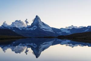 Europe, Switzerland, Valais, Zermatt, Matterhorn (4478M), Stellisee Lake by Christian Kober
