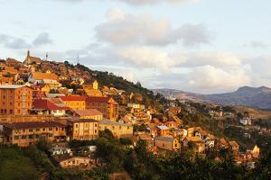 Fianarantsoa Haute Ville in the afternoon, central area, Madagascar, Africa by Christian Kober