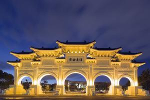 Freedom Square Memorial Arch, Chiang Kaishek Memorial Grounds, Taipei, Taiwan, Asia by Christian Kober