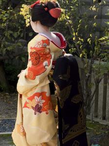 Geisha, Maiko in Gion, Kyoto City, Honshu, Japan by Christian Kober