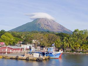 Harbour Below Volcan Concepcion, 1610M, Ometepe Island, Lake Nicaragua, Nicaragua, Central America by Christian Kober