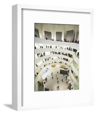 Iinterior of Solomon R Guggenheim Museum, 1959, Designed by Frank Lloyd Wright, Manhattan