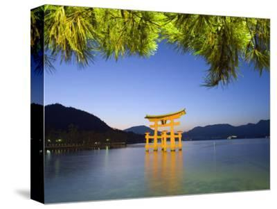 Illumination of Itsukushima Shrine Torii Gate, Miyajima Island, Hiroshima Prefecture, Japan