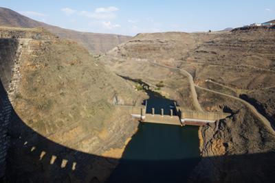 Katse Dam, Lesotho, Africa by Christian Kober