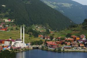 Lakeside Mosque, Uzungol Alpine Resort, Black Sea Coast Area, Trabzon Province, Anatolia, Turkey by Christian Kober