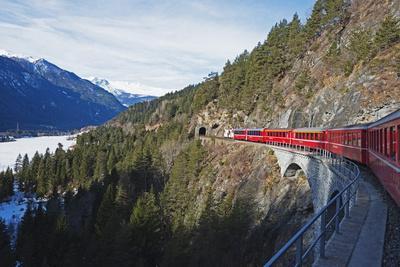 Landwasser Viaduct, Bernina Express Railway Line, UNESCO World Heritage Site