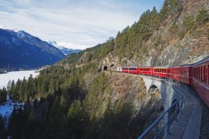Landwasser Viaduct, Bernina Express Railway Line, UNESCO World Heritage Site by Christian Kober