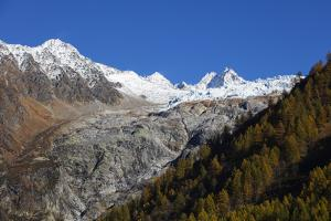 Le Tour glacier, autumn, Chamonix, Haute Savoie, Rhone Alpes, French Alps, France, Europe by Christian Kober