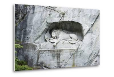 Lion Monument by Lucas Ahorn for Swiss Soldiers Who Died in the French Revolution