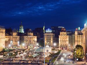Maidan Nezalezhnosti, Kiev, Ukraine, Europe by Christian Kober
