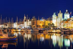 Mediterranean Europe, Malta, the Three Cities, Vittoriosa (Birgu), Grand Harbour Marina by Christian Kober