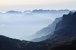Mountain Silhouette, Chamonix, Haute-Savoie, French Alps, France, Europe by Christian Kober