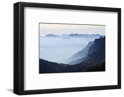 Mountain Silhouette, Chamonix, Haute-Savoie, French Alps, France, Europe