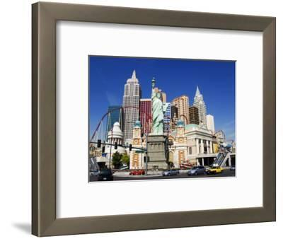 Nevada, Las Vegas, Statue of Liberty and New York New York City Skyline Reproduction, USA