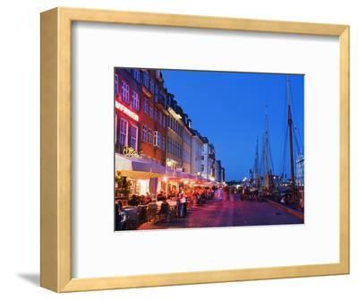 Outdoor Dining and Boats in Nyhavn Harbour, Copenhagen, Denmark, Scandinavia, Europe