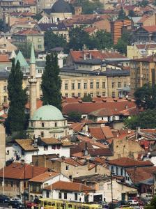 Panoramic Hilltop View of the City, Sarajevo, Bosnia by Christian Kober