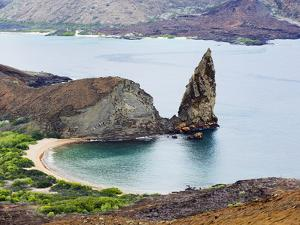 Pinnacle Rock, Isla Bartholome, Galapagos Islands, UNESCO World Heritage Site, Ecuador by Christian Kober