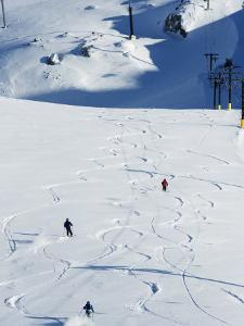 Powder Skiing at Whistler Mountain Resort by Christian Kober
