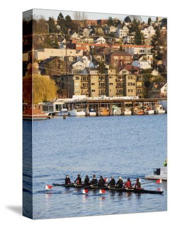 Rowing Team on Lake Union, Seattle, Washington State, United States of America, North America