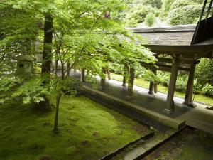 Ryoanji Temple Moss Garden, Ryoan-Ji Temple, Unesco World Heritage Site, Kyoto City, Honshu, Japan by Christian Kober