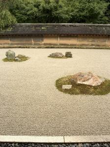 Ryoanji Temple Rock Garden, Ryoan-Ji, Unesco World Heritage Site, Kyoto City, Honshu, Japan by Christian Kober
