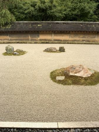 Ryoanji Temple Rock Garden, Ryoan-Ji, Unesco World Heritage Site, Kyoto City, Honshu, Japan