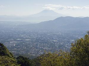San Salvador City and Volcan De San Vincent (Chichontepec), 2182M, San Salvador, El Salvador by Christian Kober