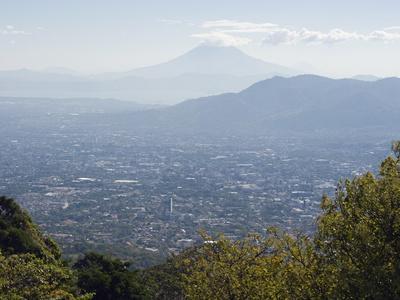San Salvador City and Volcan De San Vincent (Chichontepec), 2182M, San Salvador, El Salvador