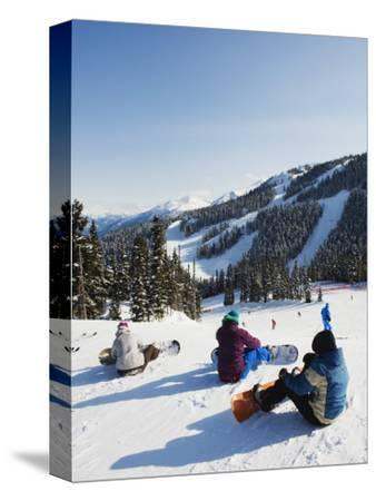 Snowboarders at Whistler Mountain Resort
