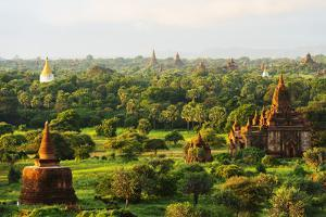 South East Asia, Myanmar, Bagan, Temples on Bagan Plain by Christian Kober