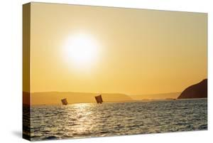 St. Augustine, sailboats on the horizon at sunrise, southern area, Madagascar, Africa by Christian Kober