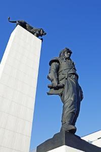 Statue of General Dr Milan Rastislav Stefanik, Bratislava, Slovakia, Europe by Christian Kober