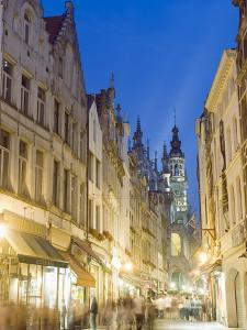 Street Near the Grand Place, Brussels, Belgium, Europe by Christian Kober