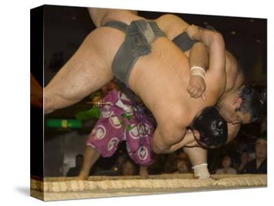 Sumo Wrestlers Competing, Grand Taikai Sumo Wrestling Tournament, Kokugikan Hall Stadium, Tokyo
