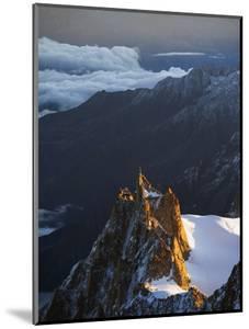 Sunrise on Aiguille Du Midi Cable Car Station, Mont Blanc Range, Chamonix, French Alps, France by Christian Kober