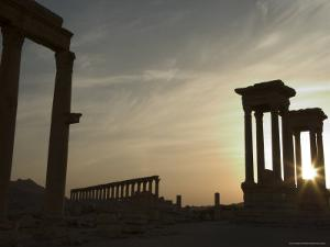 Sunset, Archaelogical Ruins, Palmyra, Unesco World Heritage Site, Syria, Middle East by Christian Kober