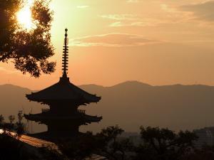 Sunset, Yasaka No to Pagoda, Kyoto City, Honshu, Japan by Christian Kober